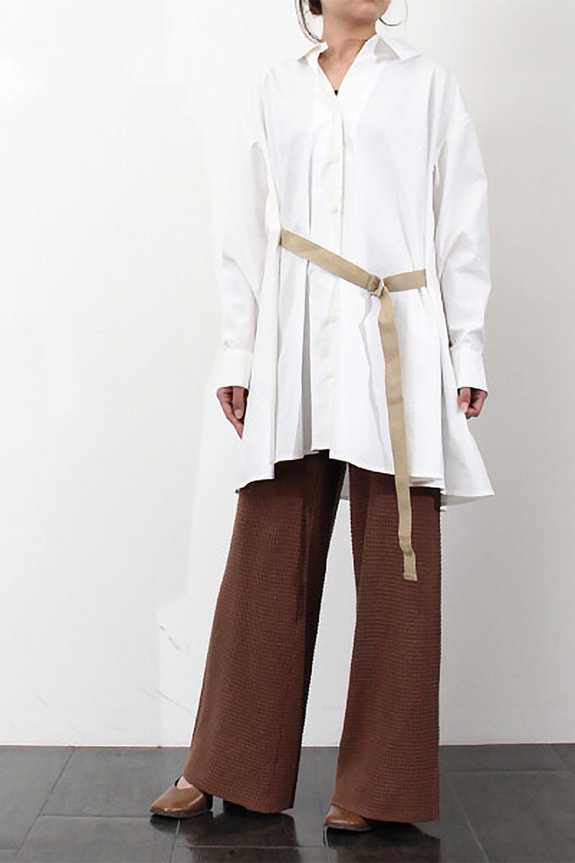 WideLegWafflePantsワッフル地・ワイドパンツ大人カジュアルに最適な海外ファッションのothers(その他インポートアイテム)のボトムやパンツ。ざっくり素材のワッフル地が最高に気持ち良いワイドパンツ。これ、すでに店頭では大人気の商品です。/main-34