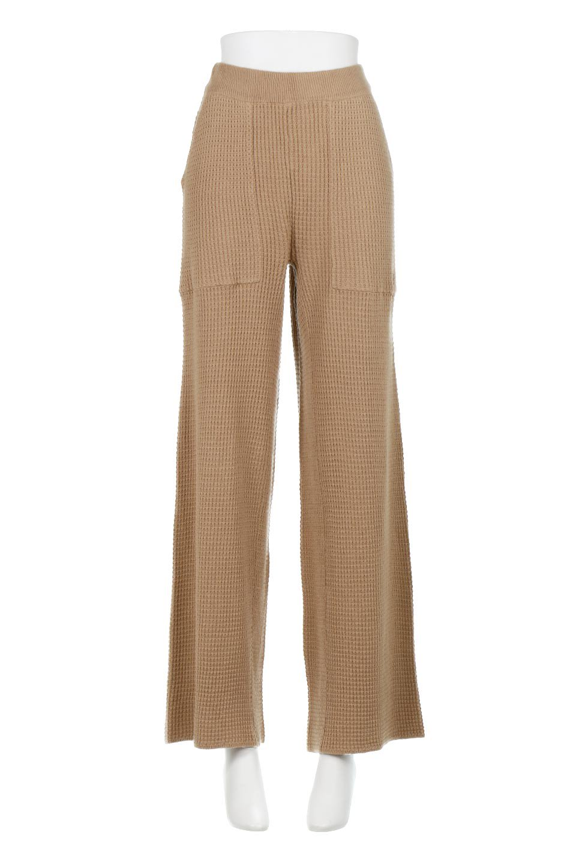 WideLegWafflePantsワッフル地・ワイドパンツ大人カジュアルに最適な海外ファッションのothers(その他インポートアイテム)のボトムやパンツ。ざっくり素材のワッフル地が最高に気持ち良いワイドパンツ。これ、すでに店頭では大人気の商品です。/main-5