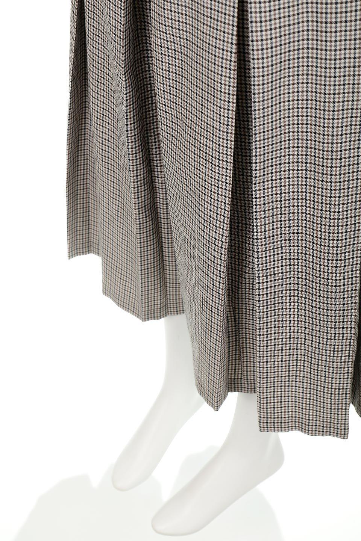 DeepPleatedWidePantsガンクラブチェック・ディーププリーツパンツ大人カジュアルに最適な海外ファッションのothers(その他インポートアイテム)のボトムやパンツ。ガンクラブチェックの柄と深めのプリーツがトラッドな印象のワイドパンツ。裾にかけて広がるデザインで脚長効果もあるアイテムです。/main-14