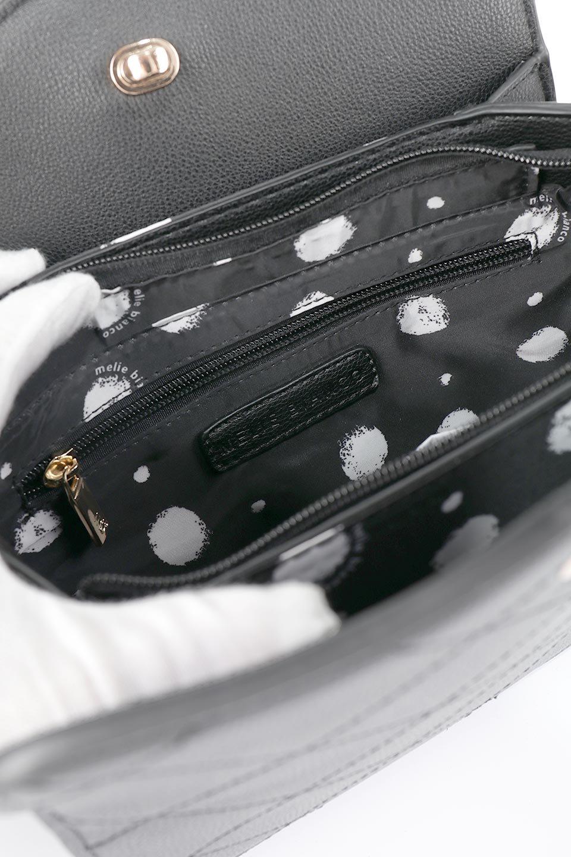 meliebiancoのMiley(Black)キルティングステッチ・ショルダーバッグ/海外ファッション好きにオススメのインポートバッグとかばん、MelieBianco(メリービアンコ)のバッグやハンドバッグ。上品なキルティングステッチが可愛いショルダーバッグ。しっかりとした芯入りのビーガンレザーで型崩れの心配はナシ。/main-12
