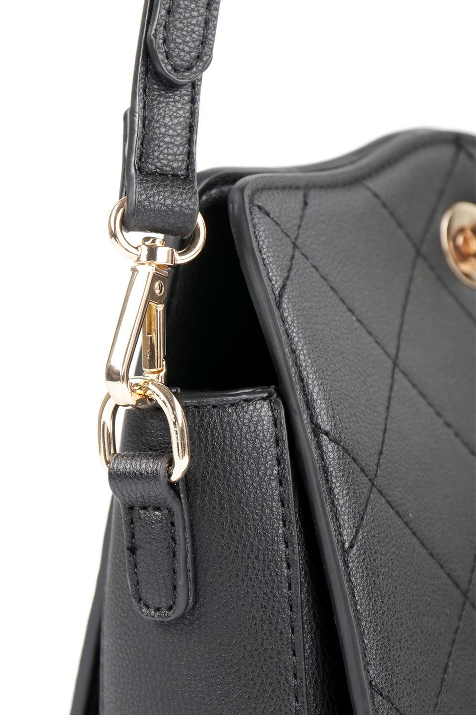 meliebiancoのMiley(Black)キルティングステッチ・ショルダーバッグ/海外ファッション好きにオススメのインポートバッグとかばん、MelieBianco(メリービアンコ)のバッグやハンドバッグ。上品なキルティングステッチが可愛いショルダーバッグ。しっかりとした芯入りのビーガンレザーで型崩れの心配はナシ。/main-8