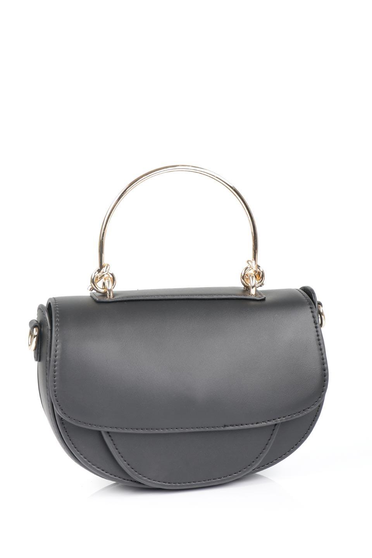 meliebiancoのIsabel(Black)ワンハンドル・2Wayミニバッグ/海外ファッション好きにオススメのインポートバッグとかばん、MelieBianco(メリービアンコ)のバッグやショルダーバッグ。ゴールドのメタルハンドルがアクセントのミニハンドバッグ。丸みを帯びたラウンドタイプはメリービアンコの本国アメリカはもちろんヨーロッパでも人気のシルエット。/main-11