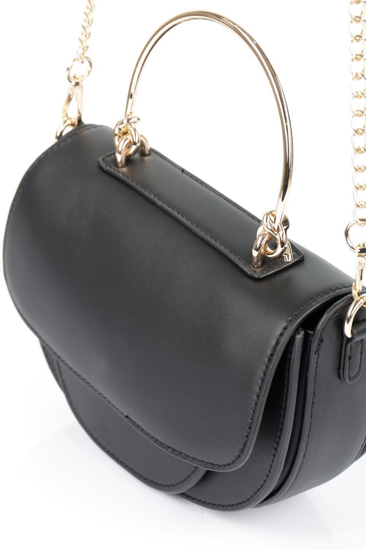 meliebiancoのIsabel(Black)ワンハンドル・2Wayミニバッグ/海外ファッション好きにオススメのインポートバッグとかばん、MelieBianco(メリービアンコ)のバッグやショルダーバッグ。ゴールドのメタルハンドルがアクセントのミニハンドバッグ。丸みを帯びたラウンドタイプはメリービアンコの本国アメリカはもちろんヨーロッパでも人気のシルエット。/main-6