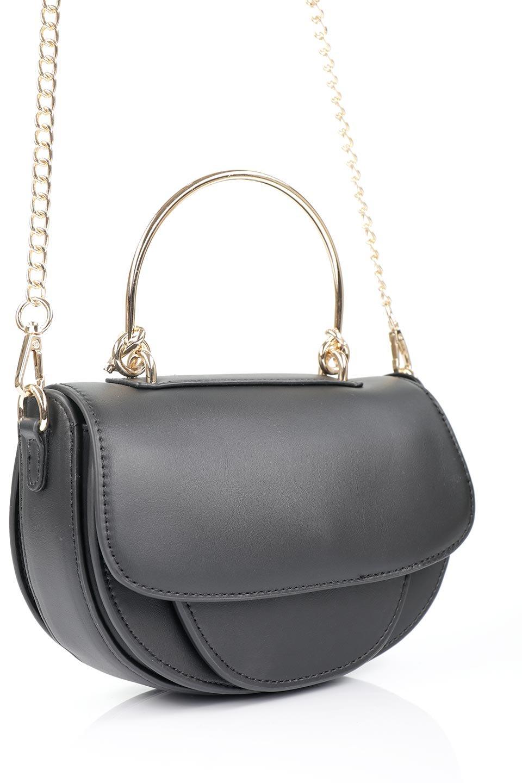 meliebiancoのIsabel(Black)ワンハンドル・2Wayミニバッグ/海外ファッション好きにオススメのインポートバッグとかばん、MelieBianco(メリービアンコ)のバッグやショルダーバッグ。ゴールドのメタルハンドルがアクセントのミニハンドバッグ。丸みを帯びたラウンドタイプはメリービアンコの本国アメリカはもちろんヨーロッパでも人気のシルエット。/main-7