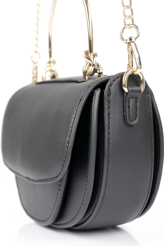 meliebiancoのIsabel(Black)ワンハンドル・2Wayミニバッグ/海外ファッション好きにオススメのインポートバッグとかばん、MelieBianco(メリービアンコ)のバッグやショルダーバッグ。ゴールドのメタルハンドルがアクセントのミニハンドバッグ。丸みを帯びたラウンドタイプはメリービアンコの本国アメリカはもちろんヨーロッパでも人気のシルエット。/main-9
