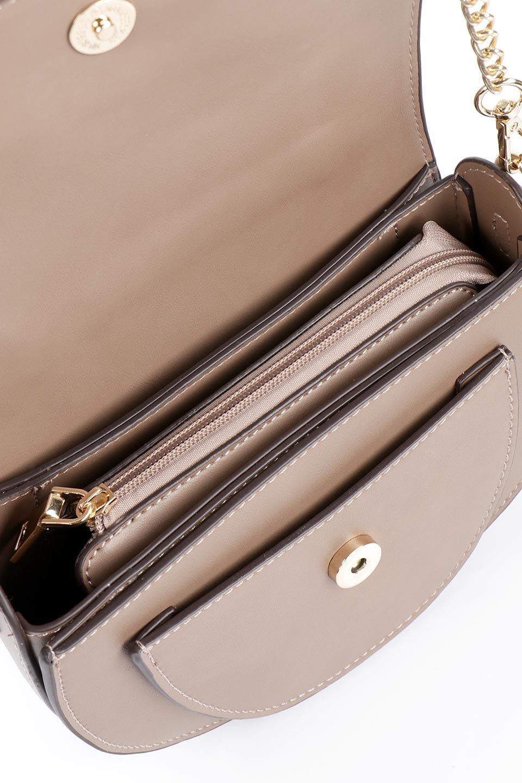 meliebiancoのIsabel(Taupe)ワンハンドル・2Wayミニバッグ/海外ファッション好きにオススメのインポートバッグとかばん、MelieBianco(メリービアンコ)のバッグやショルダーバッグ。ゴールドのメタルハンドルがアクセントのミニハンドバッグ。丸みを帯びたラウンドタイプはメリービアンコの本国アメリカはもちろんヨーロッパでも人気のシルエット。/main-10