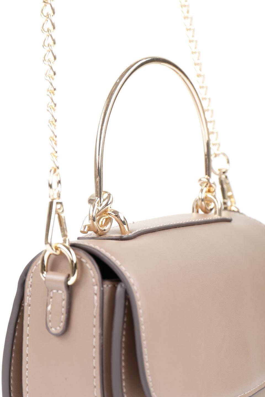 meliebiancoのIsabel(Taupe)ワンハンドル・2Wayミニバッグ/海外ファッション好きにオススメのインポートバッグとかばん、MelieBianco(メリービアンコ)のバッグやショルダーバッグ。ゴールドのメタルハンドルがアクセントのミニハンドバッグ。丸みを帯びたラウンドタイプはメリービアンコの本国アメリカはもちろんヨーロッパでも人気のシルエット。/main-5