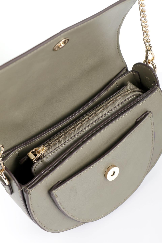 meliebiancoのIsabel(Olive)ワンハンドル・2Wayミニバッグ/海外ファッション好きにオススメのインポートバッグとかばん、MelieBianco(メリービアンコ)のバッグやショルダーバッグ。ゴールドのメタルハンドルがアクセントのミニハンドバッグ。丸みを帯びたラウンドタイプはメリービアンコの本国アメリカはもちろんヨーロッパでも人気のシルエット。/main-11