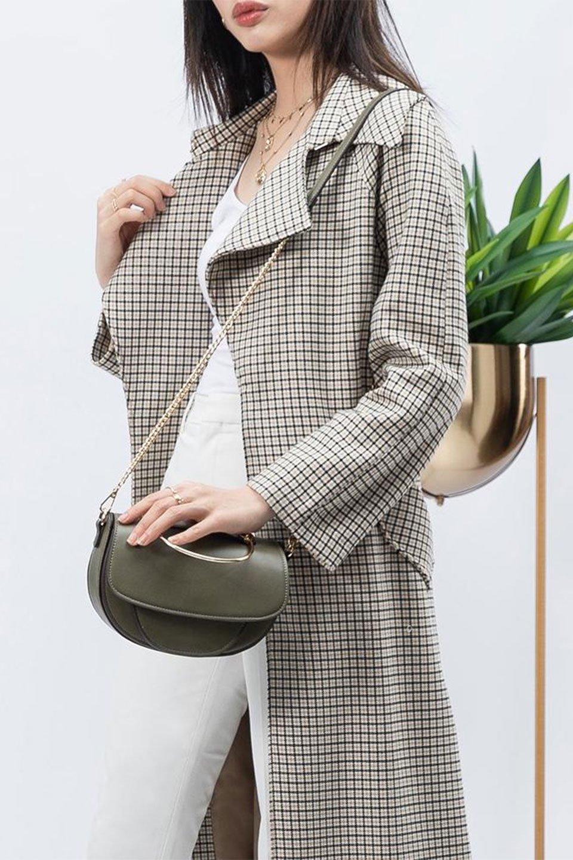 meliebiancoのIsabel(Olive)ワンハンドル・2Wayミニバッグ/海外ファッション好きにオススメのインポートバッグとかばん、MelieBianco(メリービアンコ)のバッグやショルダーバッグ。ゴールドのメタルハンドルがアクセントのミニハンドバッグ。丸みを帯びたラウンドタイプはメリービアンコの本国アメリカはもちろんヨーロッパでも人気のシルエット。/main-15
