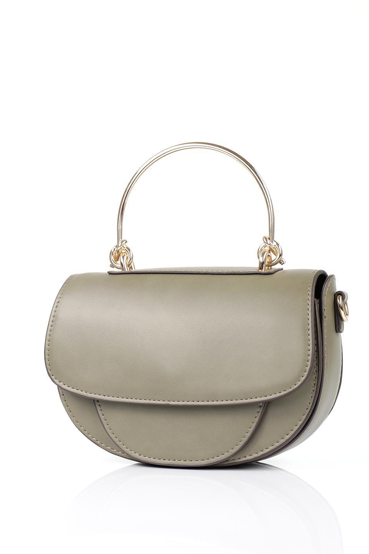 meliebiancoのIsabel(Olive)ワンハンドル・2Wayミニバッグ/海外ファッション好きにオススメのインポートバッグとかばん、MelieBianco(メリービアンコ)のバッグやショルダーバッグ。ゴールドのメタルハンドルがアクセントのミニハンドバッグ。丸みを帯びたラウンドタイプはメリービアンコの本国アメリカはもちろんヨーロッパでも人気のシルエット。/main-5