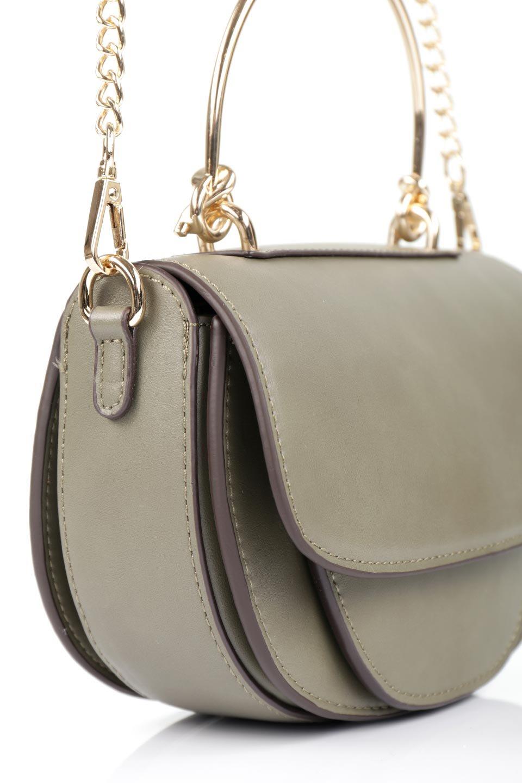 meliebiancoのIsabel(Olive)ワンハンドル・2Wayミニバッグ/海外ファッション好きにオススメのインポートバッグとかばん、MelieBianco(メリービアンコ)のバッグやショルダーバッグ。ゴールドのメタルハンドルがアクセントのミニハンドバッグ。丸みを帯びたラウンドタイプはメリービアンコの本国アメリカはもちろんヨーロッパでも人気のシルエット。/main-6