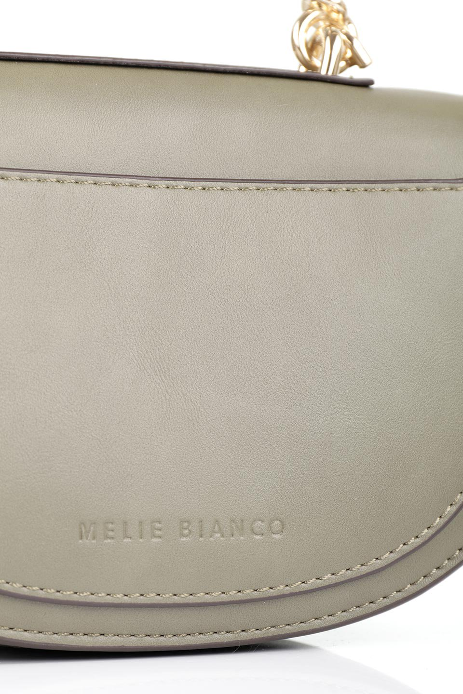 meliebiancoのIsabel(Olive)ワンハンドル・2Wayミニバッグ/海外ファッション好きにオススメのインポートバッグとかばん、MelieBianco(メリービアンコ)のバッグやショルダーバッグ。ゴールドのメタルハンドルがアクセントのミニハンドバッグ。丸みを帯びたラウンドタイプはメリービアンコの本国アメリカはもちろんヨーロッパでも人気のシルエット。/main-8