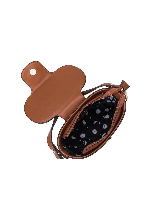 meliebiancoのAdelynn(Saddle)ワンハンドル・ミニハンドバッグ/海外ファッション好きにオススメのインポートバッグとかばん、MelieBianco(メリービアンコ)のバッグやハンドバッグ。meliebianco(メリービアンコ)の2019年秋冬の新作になります。メリービアンコ自慢のビーガンレザーを使用したアニマルフレンドリーなアイテム。/main-5