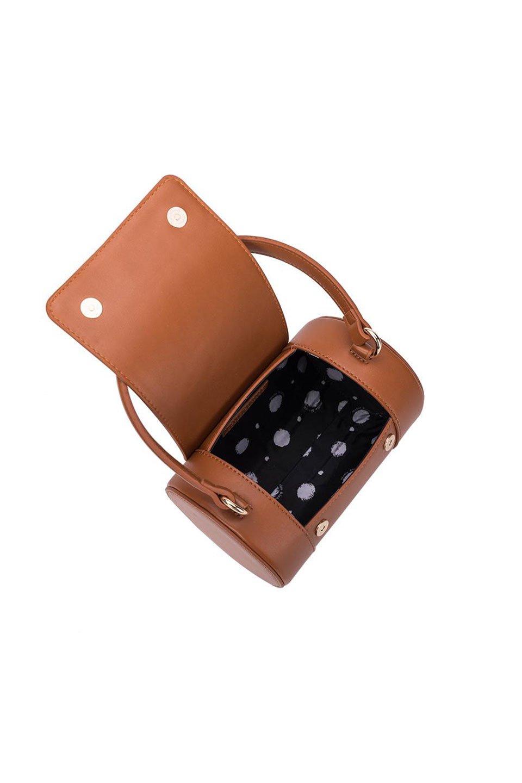 meliebiancoのBrooke(Saddle)ワンハンドル・筒型ミニバッグ/海外ファッション好きにオススメのインポートバッグとかばん、MelieBianco(メリービアンコ)のバッグやハンドバッグ。meliebianco(メリービアンコ)の2019年秋冬の新作になります。メリービアンコ自慢のビーガンレザーを使用したアニマルフレンドリーなアイテム。/main-5