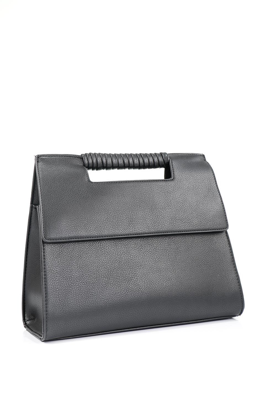 meliebiancoのBlair(Black)ワンハンドル・ハンドバッグ/海外ファッション好きにオススメのインポートバッグとかばん、MelieBianco(メリービアンコ)のバッグやハンドバッグ。スクエアなシルエットがシャープな印象のハンドバッグ。普段使いはもちろん、仕事でもつかえるシンプルデザインです。/main-6
