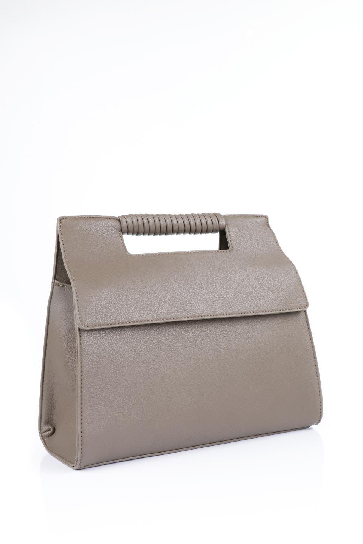 meliebiancoのBlair(Taupe)ワンハンドル・ハンドバッグ/海外ファッション好きにオススメのインポートバッグとかばん、MelieBianco(メリービアンコ)のバッグやハンドバッグ。スクエアなシルエットがシャープな印象のハンドバッグ。普段使いはもちろん、仕事でもつかえるシンプルデザインです。/main-10