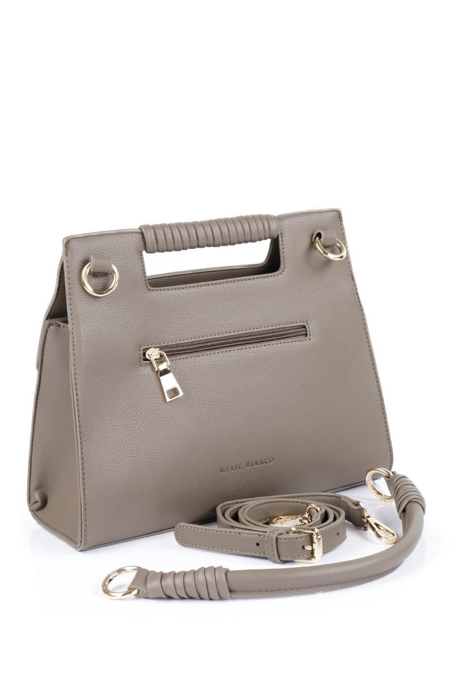 meliebiancoのBlair(Taupe)ワンハンドル・ハンドバッグ/海外ファッション好きにオススメのインポートバッグとかばん、MelieBianco(メリービアンコ)のバッグやハンドバッグ。スクエアなシルエットがシャープな印象のハンドバッグ。普段使いはもちろん、仕事でもつかえるシンプルデザインです。/main-9