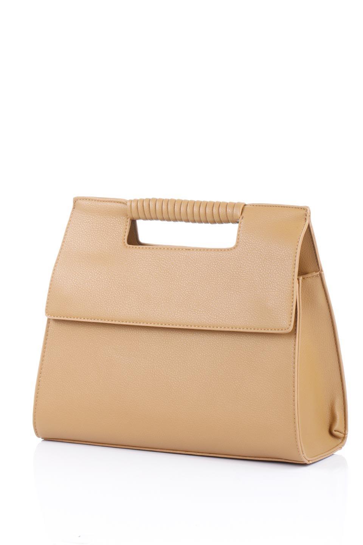 meliebiancoのBlair(Camel)ワンハンドル・ハンドバッグ/海外ファッション好きにオススメのインポートバッグとかばん、MelieBianco(メリービアンコ)のバッグやハンドバッグ。スクエアなシルエットがシャープな印象のハンドバッグ。普段使いはもちろん、仕事でもつかえるシンプルデザインです。/main-11