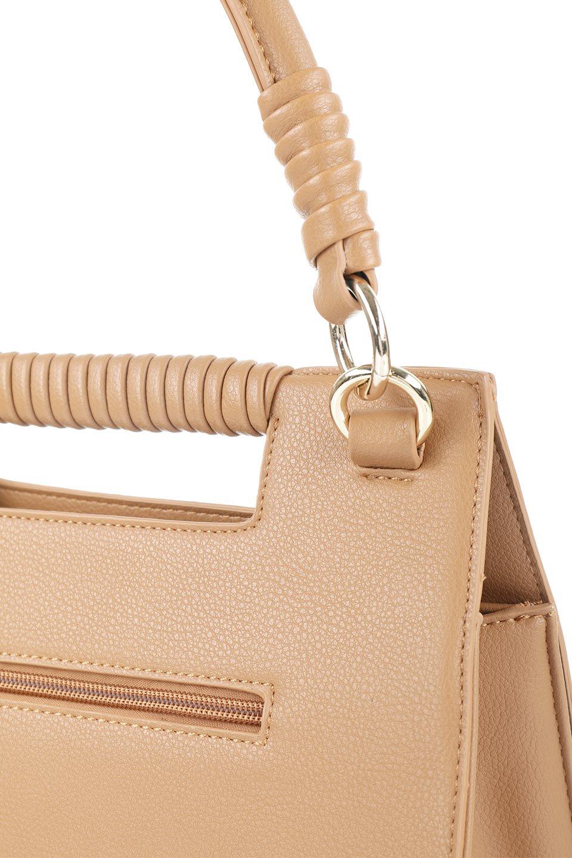 meliebiancoのBlair(Camel)ワンハンドル・ハンドバッグ/海外ファッション好きにオススメのインポートバッグとかばん、MelieBianco(メリービアンコ)のバッグやハンドバッグ。スクエアなシルエットがシャープな印象のハンドバッグ。普段使いはもちろん、仕事でもつかえるシンプルデザインです。/main-6