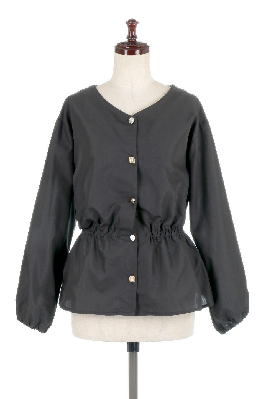 WaistGatheredBlouseウエストギャザー・ブラウス大人カジュアルに最適な海外ファッションのothers(その他インポートアイテム)のトップスやシャツ・ブラウス。スッキリとした首周りで人気の長袖ブラウス。数種類のボタンをアクセントして使用して可愛らしさもアピール。/main-15