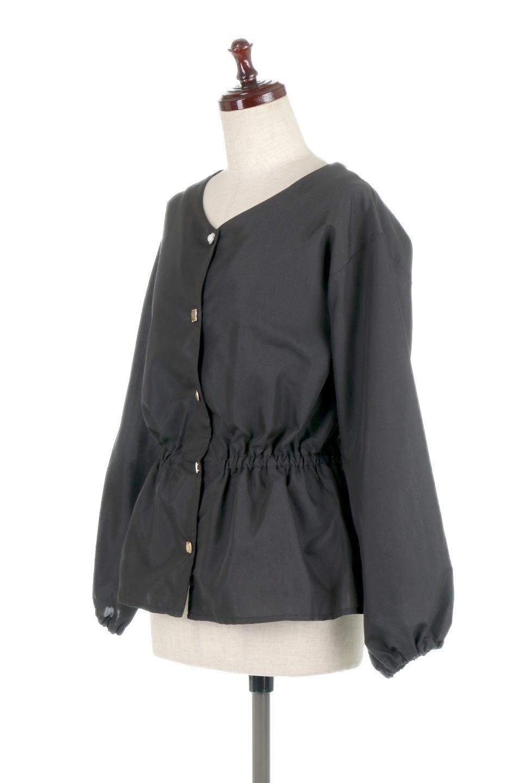WaistGatheredBlouseウエストギャザー・ブラウス大人カジュアルに最適な海外ファッションのothers(その他インポートアイテム)のトップスやシャツ・ブラウス。スッキリとした首周りで人気の長袖ブラウス。数種類のボタンをアクセントして使用して可愛らしさもアピール。/main-16