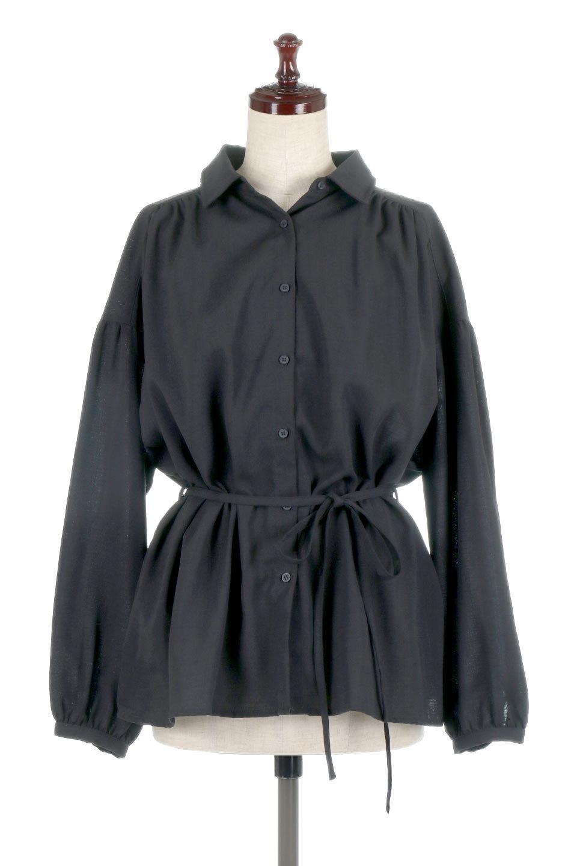 WaistTiedShirtsBlouseウエストマーク・シャツブラウス大人カジュアルに最適な海外ファッションのothers(その他インポートアイテム)のトップスやシャツ・ブラウス。シャツとブラウスのいいとこ取りの長袖アイテム。シャツジャケットのように着ても良し、ボトムにインしてブラウス感覚で着ても良し。/main-15