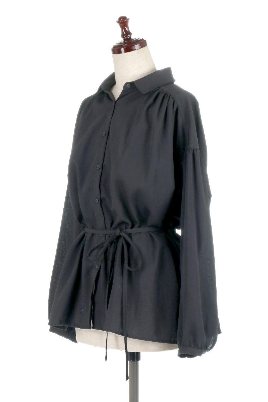 WaistTiedShirtsBlouseウエストマーク・シャツブラウス大人カジュアルに最適な海外ファッションのothers(その他インポートアイテム)のトップスやシャツ・ブラウス。シャツとブラウスのいいとこ取りの長袖アイテム。シャツジャケットのように着ても良し、ボトムにインしてブラウス感覚で着ても良し。/main-16