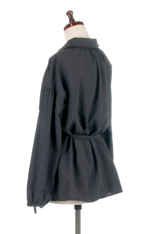 WaistTiedShirtsBlouseウエストマーク・シャツブラウス大人カジュアルに最適な海外ファッションのothers(その他インポートアイテム)のトップスやシャツ・ブラウス。シャツとブラウスのいいとこ取りの長袖アイテム。シャツジャケットのように着ても良し、ボトムにインしてブラウス感覚で着ても良し。/main-18