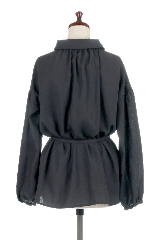 WaistTiedShirtsBlouseウエストマーク・シャツブラウス大人カジュアルに最適な海外ファッションのothers(その他インポートアイテム)のトップスやシャツ・ブラウス。シャツとブラウスのいいとこ取りの長袖アイテム。シャツジャケットのように着ても良し、ボトムにインしてブラウス感覚で着ても良し。/main-19