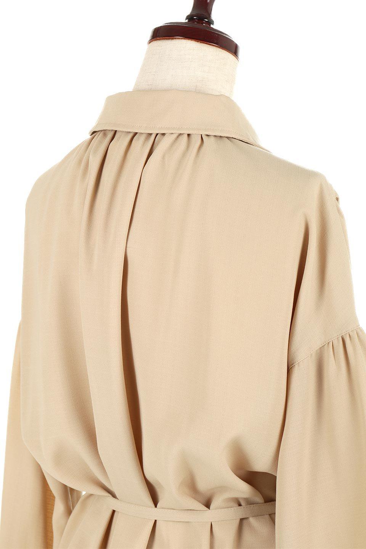 WaistTiedShirtsBlouseウエストマーク・シャツブラウス大人カジュアルに最適な海外ファッションのothers(その他インポートアイテム)のトップスやシャツ・ブラウス。シャツとブラウスのいいとこ取りの長袖アイテム。シャツジャケットのように着ても良し、ボトムにインしてブラウス感覚で着ても良し。/main-21