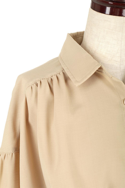 WaistTiedShirtsBlouseウエストマーク・シャツブラウス大人カジュアルに最適な海外ファッションのothers(その他インポートアイテム)のトップスやシャツ・ブラウス。シャツとブラウスのいいとこ取りの長袖アイテム。シャツジャケットのように着ても良し、ボトムにインしてブラウス感覚で着ても良し。/main-22