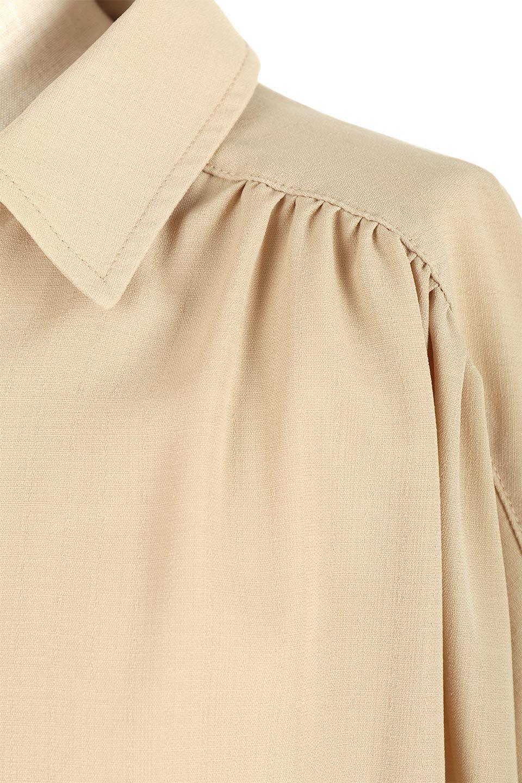 WaistTiedShirtsBlouseウエストマーク・シャツブラウス大人カジュアルに最適な海外ファッションのothers(その他インポートアイテム)のトップスやシャツ・ブラウス。シャツとブラウスのいいとこ取りの長袖アイテム。シャツジャケットのように着ても良し、ボトムにインしてブラウス感覚で着ても良し。/main-24