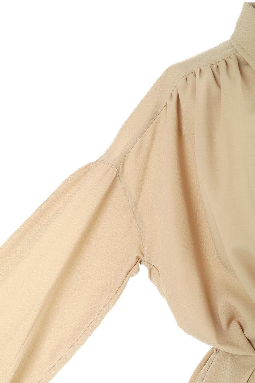 WaistTiedShirtsBlouseウエストマーク・シャツブラウス大人カジュアルに最適な海外ファッションのothers(その他インポートアイテム)のトップスやシャツ・ブラウス。シャツとブラウスのいいとこ取りの長袖アイテム。シャツジャケットのように着ても良し、ボトムにインしてブラウス感覚で着ても良し。/main-25