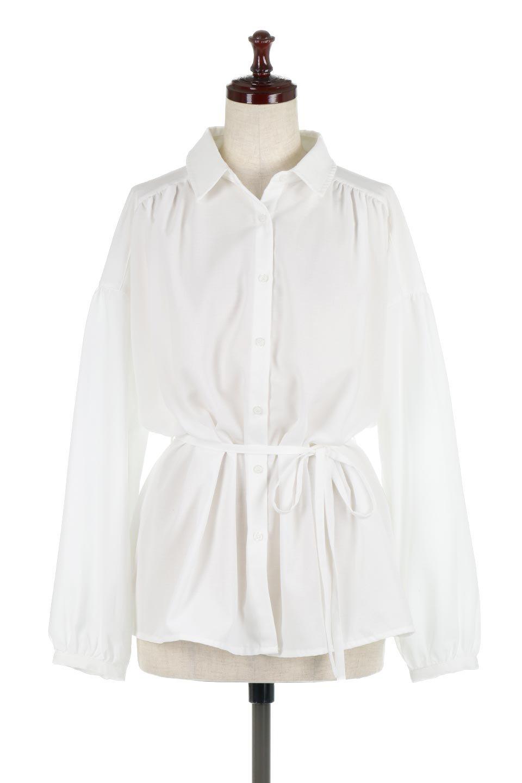 WaistTiedShirtsBlouseウエストマーク・シャツブラウス大人カジュアルに最適な海外ファッションのothers(その他インポートアイテム)のトップスやシャツ・ブラウス。シャツとブラウスのいいとこ取りの長袖アイテム。シャツジャケットのように着ても良し、ボトムにインしてブラウス感覚で着ても良し。/main-5