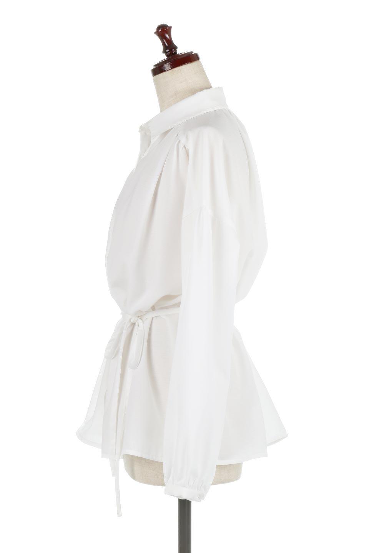 WaistTiedShirtsBlouseウエストマーク・シャツブラウス大人カジュアルに最適な海外ファッションのothers(その他インポートアイテム)のトップスやシャツ・ブラウス。シャツとブラウスのいいとこ取りの長袖アイテム。シャツジャケットのように着ても良し、ボトムにインしてブラウス感覚で着ても良し。/main-7
