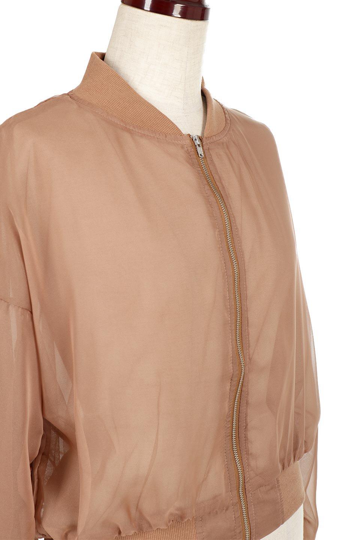 SheerShortBlousonチュール・MA−1ブルゾン大人カジュアルに最適な海外ファッションのothers(その他インポートアイテム)のアウターやジャケット。ほんのり透け感が楽しめるMA-1タイプのブルゾン。充分にゆとりを持たせた袖が透け感を演出します。/main-10
