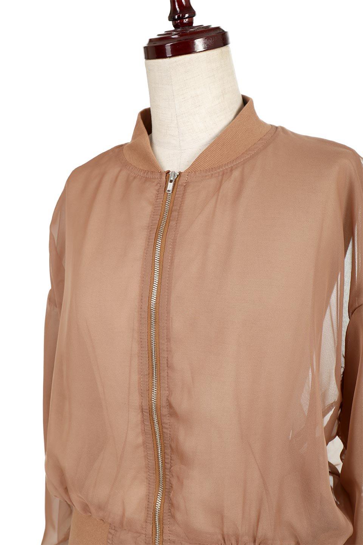 SheerShortBlousonチュール・MA−1ブルゾン大人カジュアルに最適な海外ファッションのothers(その他インポートアイテム)のアウターやジャケット。ほんのり透け感が楽しめるMA-1タイプのブルゾン。充分にゆとりを持たせた袖が透け感を演出します。/main-11
