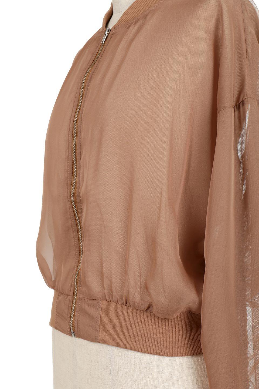 SheerShortBlousonチュール・MA−1ブルゾン大人カジュアルに最適な海外ファッションのothers(その他インポートアイテム)のアウターやジャケット。ほんのり透け感が楽しめるMA-1タイプのブルゾン。充分にゆとりを持たせた袖が透け感を演出します。/main-13