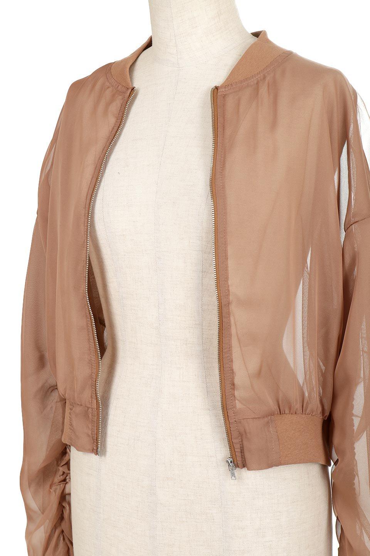 SheerShortBlousonチュール・MA−1ブルゾン大人カジュアルに最適な海外ファッションのothers(その他インポートアイテム)のアウターやジャケット。ほんのり透け感が楽しめるMA-1タイプのブルゾン。充分にゆとりを持たせた袖が透け感を演出します。/main-14