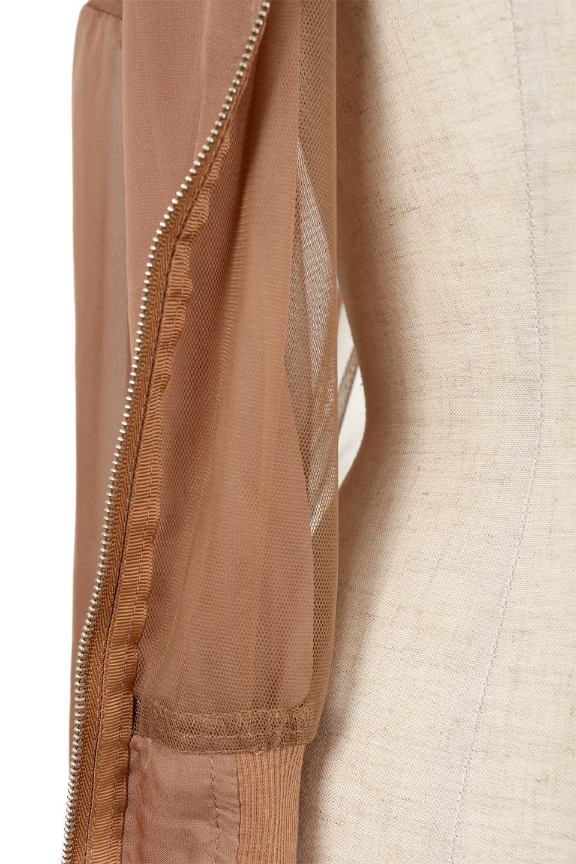SheerShortBlousonチュール・MA−1ブルゾン大人カジュアルに最適な海外ファッションのothers(その他インポートアイテム)のアウターやジャケット。ほんのり透け感が楽しめるMA-1タイプのブルゾン。充分にゆとりを持たせた袖が透け感を演出します。/main-16