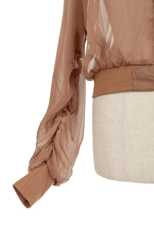 SheerShortBlousonチュール・MA−1ブルゾン大人カジュアルに最適な海外ファッションのothers(その他インポートアイテム)のアウターやジャケット。ほんのり透け感が楽しめるMA-1タイプのブルゾン。充分にゆとりを持たせた袖が透け感を演出します。/main-17