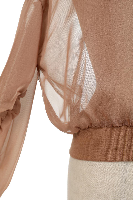 SheerShortBlousonチュール・MA−1ブルゾン大人カジュアルに最適な海外ファッションのothers(その他インポートアイテム)のアウターやジャケット。ほんのり透け感が楽しめるMA-1タイプのブルゾン。充分にゆとりを持たせた袖が透け感を演出します。/main-18