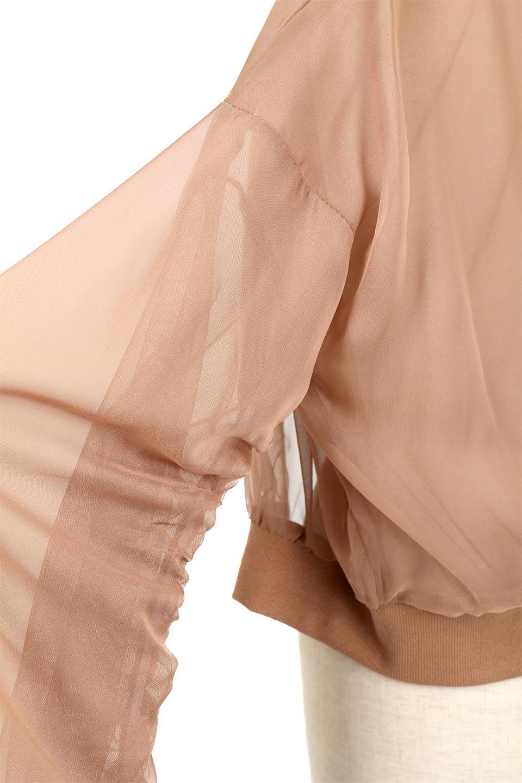 SheerShortBlousonチュール・MA−1ブルゾン大人カジュアルに最適な海外ファッションのothers(その他インポートアイテム)のアウターやジャケット。ほんのり透け感が楽しめるMA-1タイプのブルゾン。充分にゆとりを持たせた袖が透け感を演出します。/main-19