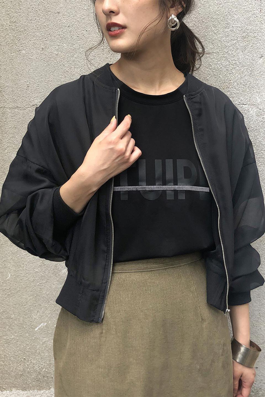 SheerShortBlousonチュール・MA−1ブルゾン大人カジュアルに最適な海外ファッションのothers(その他インポートアイテム)のアウターやジャケット。ほんのり透け感が楽しめるMA-1タイプのブルゾン。充分にゆとりを持たせた袖が透け感を演出します。/main-20