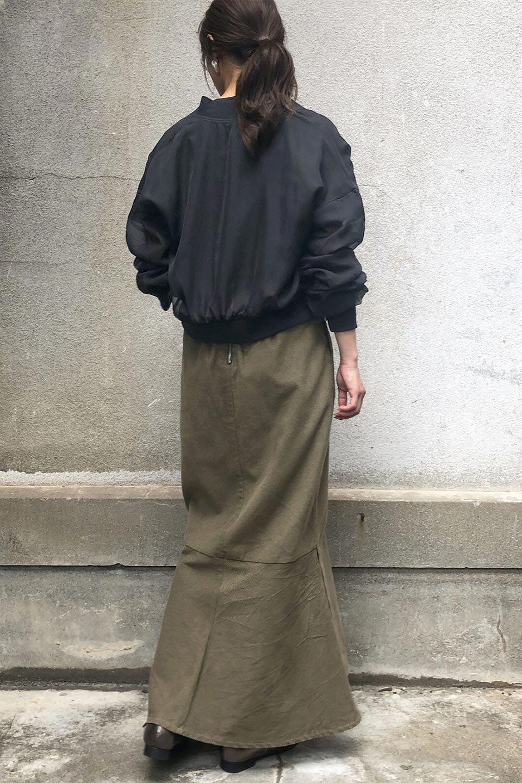 SheerShortBlousonチュール・MA−1ブルゾン大人カジュアルに最適な海外ファッションのothers(その他インポートアイテム)のアウターやジャケット。ほんのり透け感が楽しめるMA-1タイプのブルゾン。充分にゆとりを持たせた袖が透け感を演出します。/main-22
