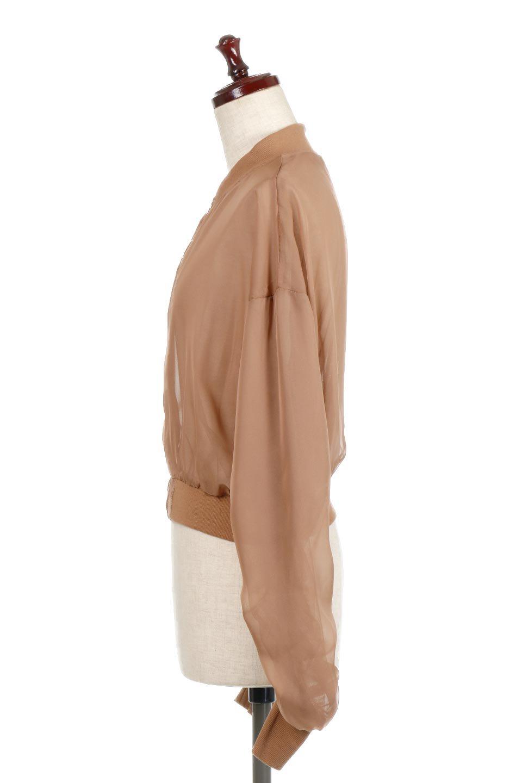 SheerShortBlousonチュール・MA−1ブルゾン大人カジュアルに最適な海外ファッションのothers(その他インポートアイテム)のアウターやジャケット。ほんのり透け感が楽しめるMA-1タイプのブルゾン。充分にゆとりを持たせた袖が透け感を演出します。/main-7