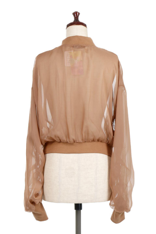SheerShortBlousonチュール・MA−1ブルゾン大人カジュアルに最適な海外ファッションのothers(その他インポートアイテム)のアウターやジャケット。ほんのり透け感が楽しめるMA-1タイプのブルゾン。充分にゆとりを持たせた袖が透け感を演出します。/main-9
