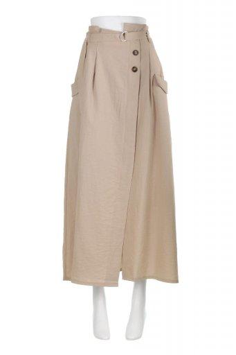 海外ファッションや大人カジュアルに最適なインポートセレクトアイテムのWrapped Flare Long Skirt ラップフレア・ロングスカート