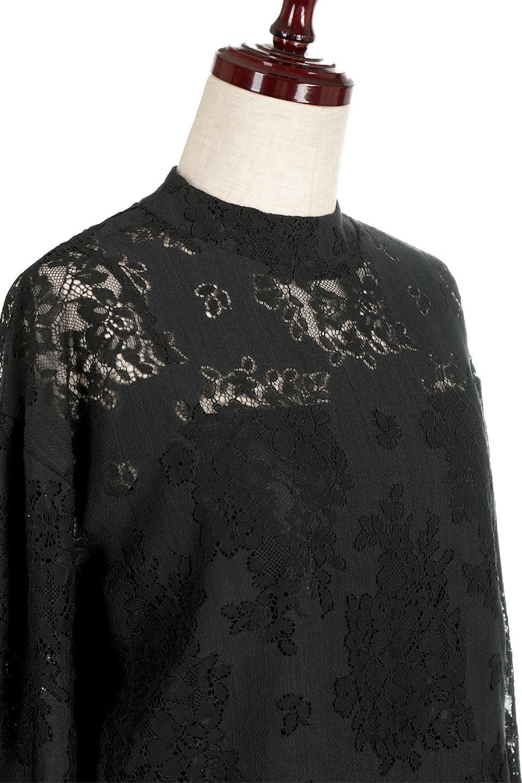 TuckSleevelaceblouseタックスリーブ・総レースブラウス大人カジュアルに最適な海外ファッションのothers(その他インポートアイテム)のトップスやシャツ・ブラウス。繊細なデザインで上品さたっぷりのレースブラウス。華奢な花柄レースのシースルーブラウスは360°どこから見ても美しい仕上がりです。/main-10