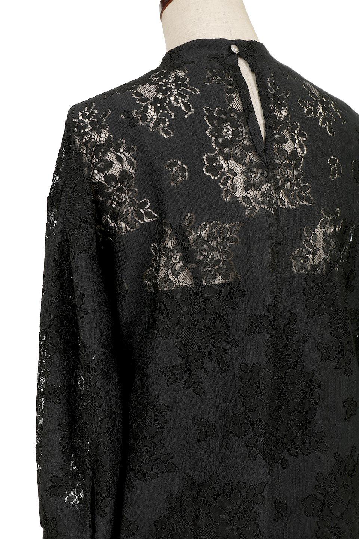 TuckSleevelaceblouseタックスリーブ・総レースブラウス大人カジュアルに最適な海外ファッションのothers(その他インポートアイテム)のトップスやシャツ・ブラウス。繊細なデザインで上品さたっぷりのレースブラウス。華奢な花柄レースのシースルーブラウスは360°どこから見ても美しい仕上がりです。/main-12